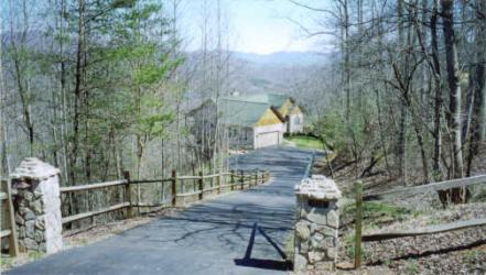 Spectacular lake and mountain views from home on lot 14 in Hidden Summit, Hiawassee, GA