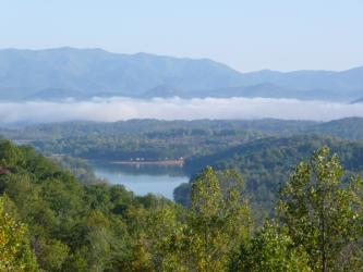 Lake Chatuge as seen from Hidden Summit development.